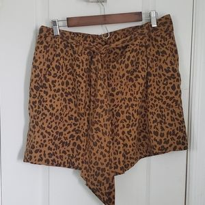 A New Day animal print shorts with belt & pockets